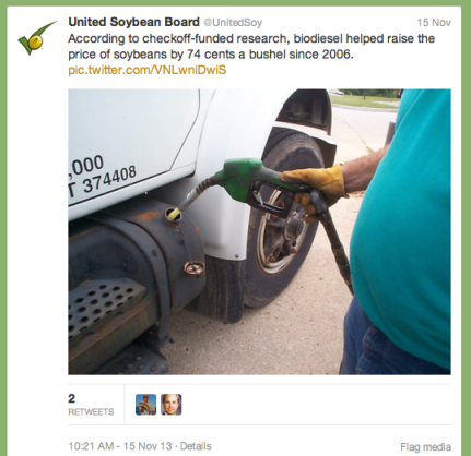 Biodiesel Tweet Nov